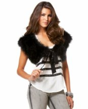 Bebe Feather Caplet $79